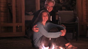 Image of Lisa and Patrick at fire